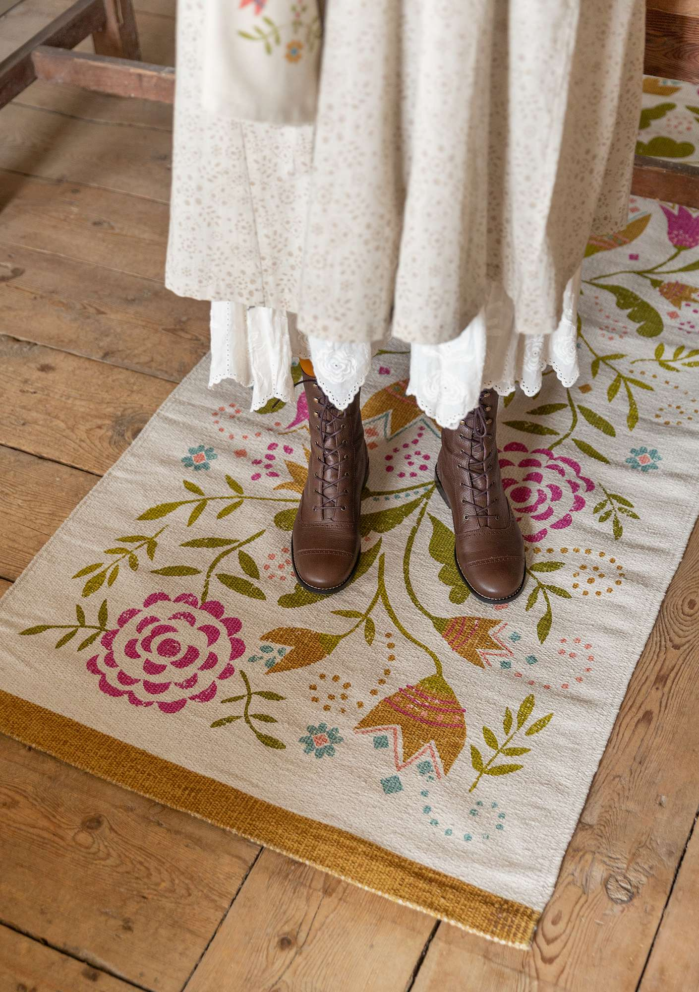 """Småland"" cotton hallway mat multicoloured"