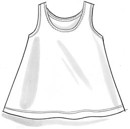 Jersey tank top in organic cotton