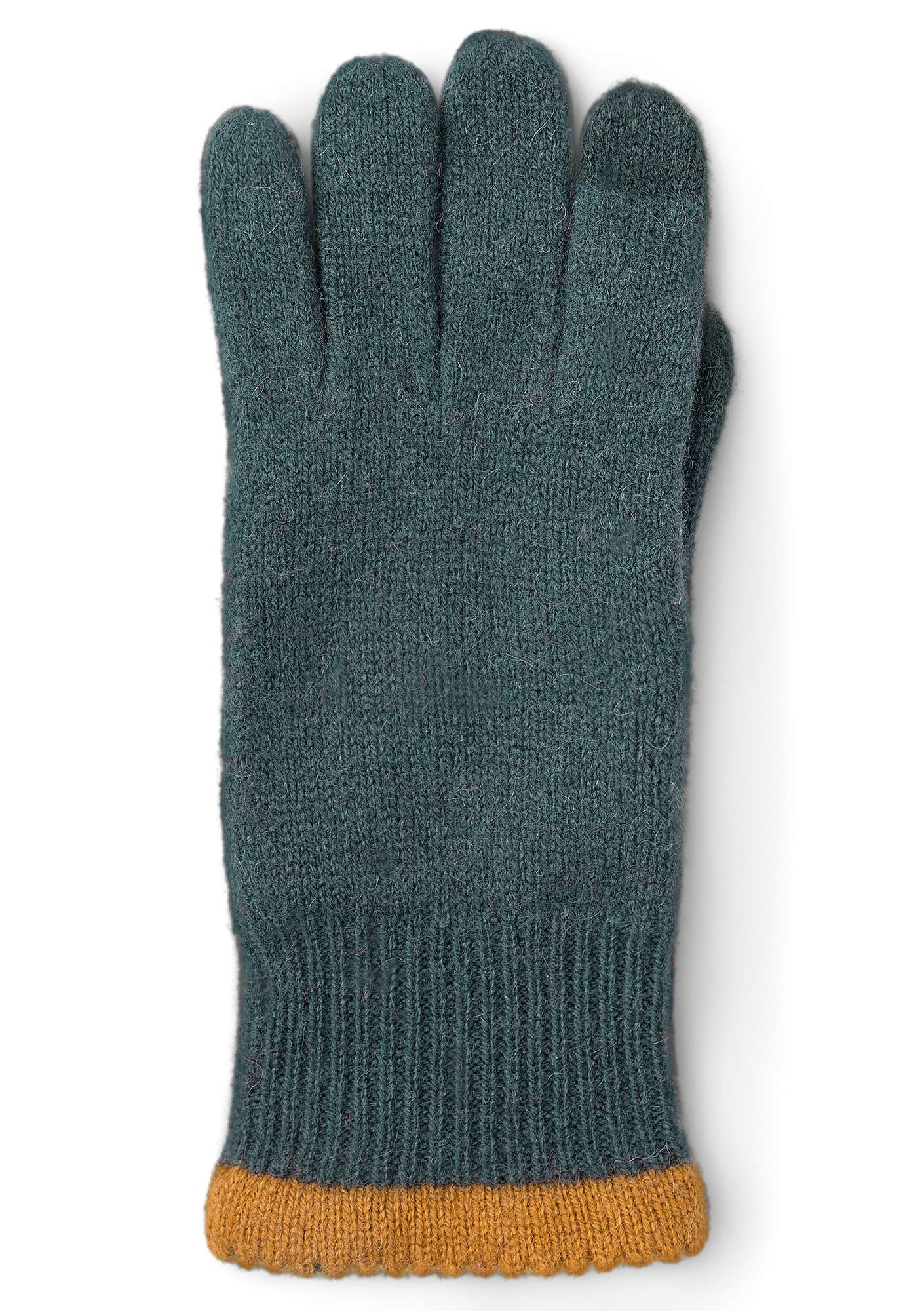 Alpaca blend gloves with touchscreen function agave