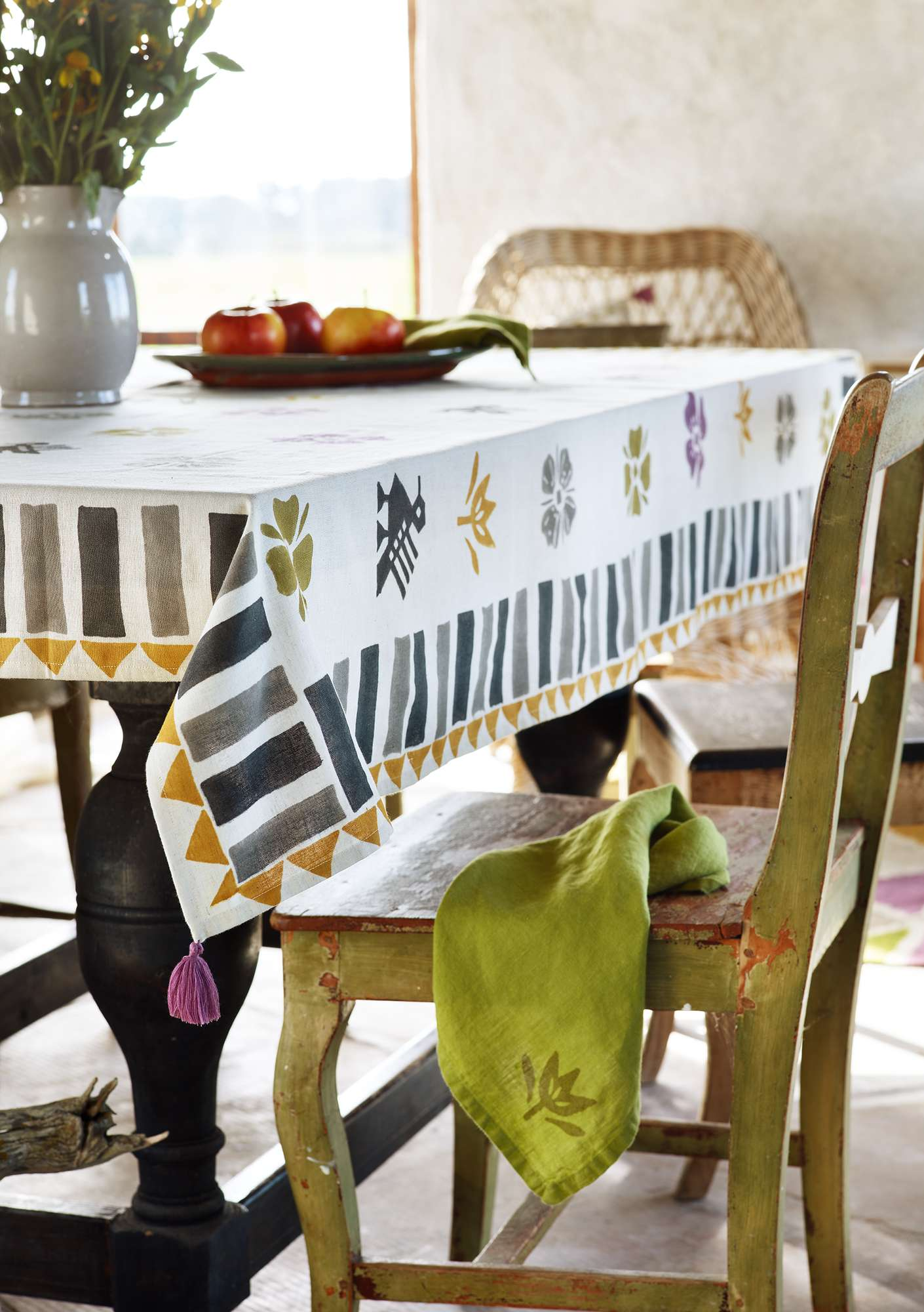 """Paloma"" cotton/linen tablecloth natural"