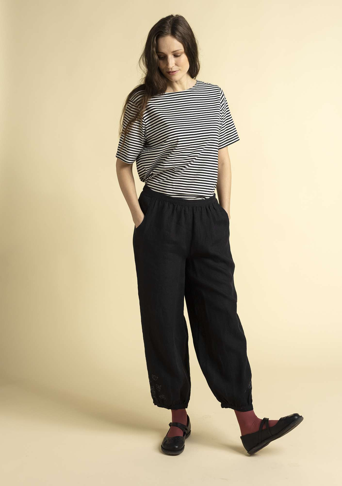 """Bouganvilla"" linen pants black"
