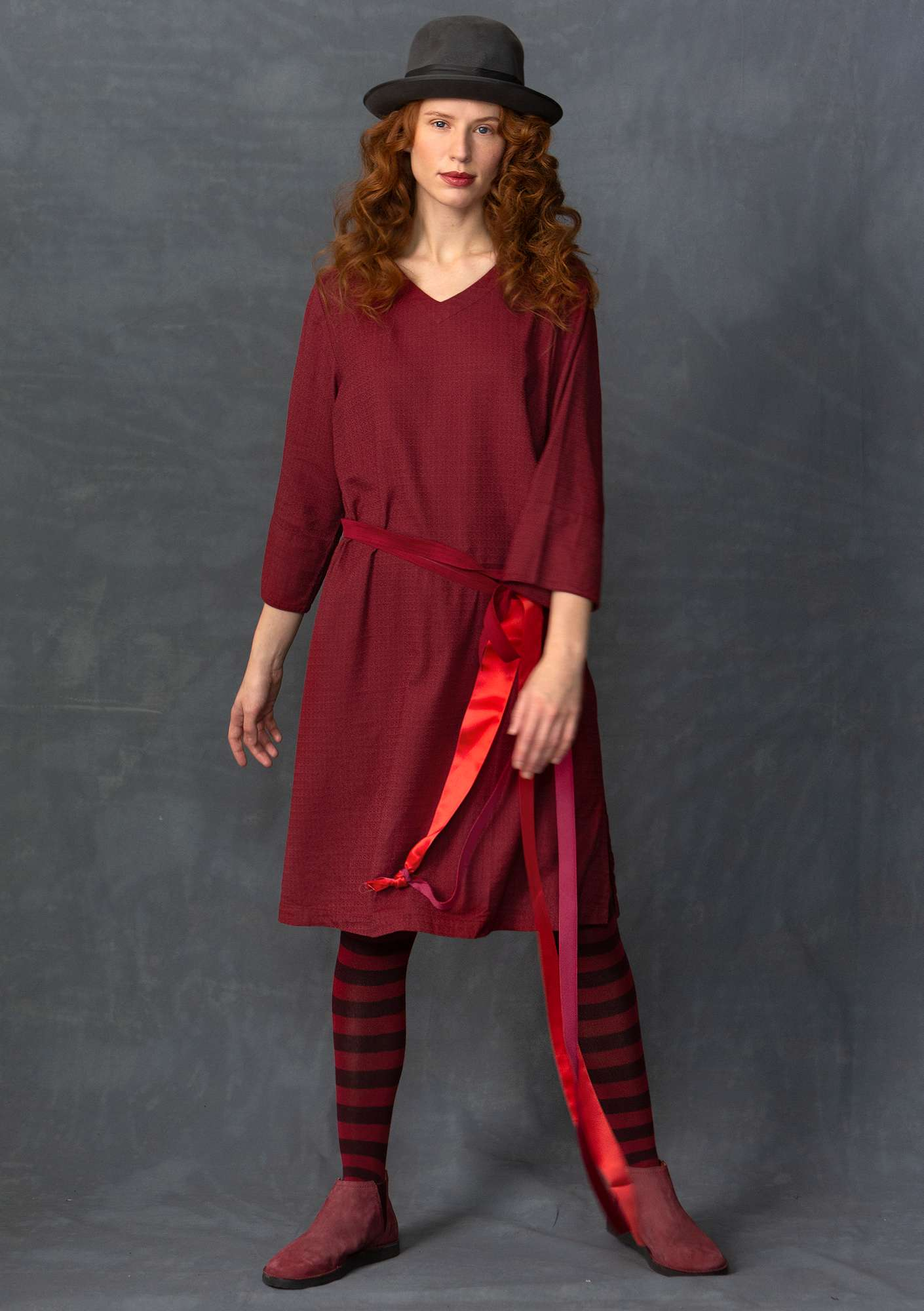 Dress made of cotton/viscose pomegranate