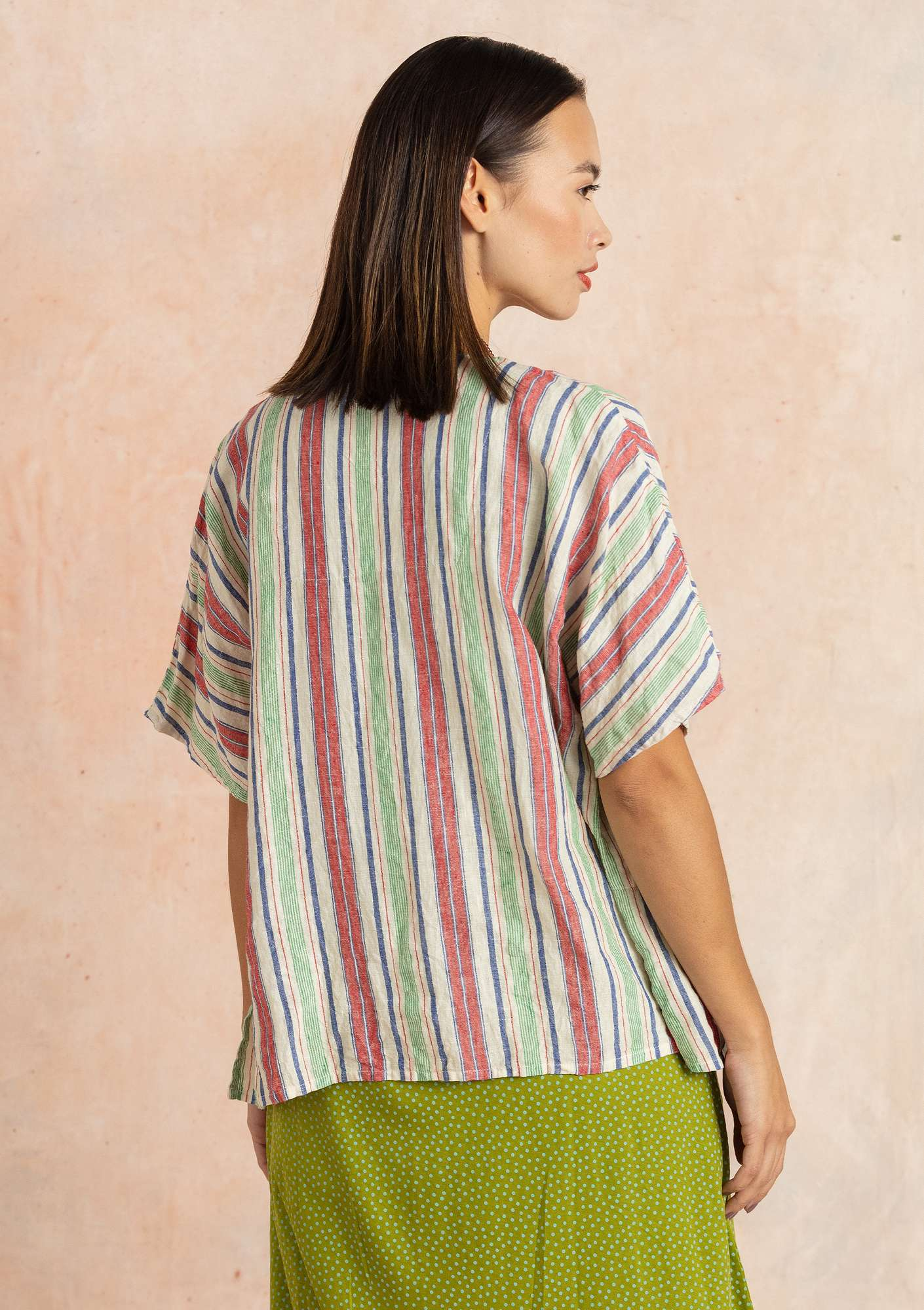 """Bolster"" linen blouse multi-color"