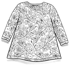 """Magnolia"" organic cotton/modal top"