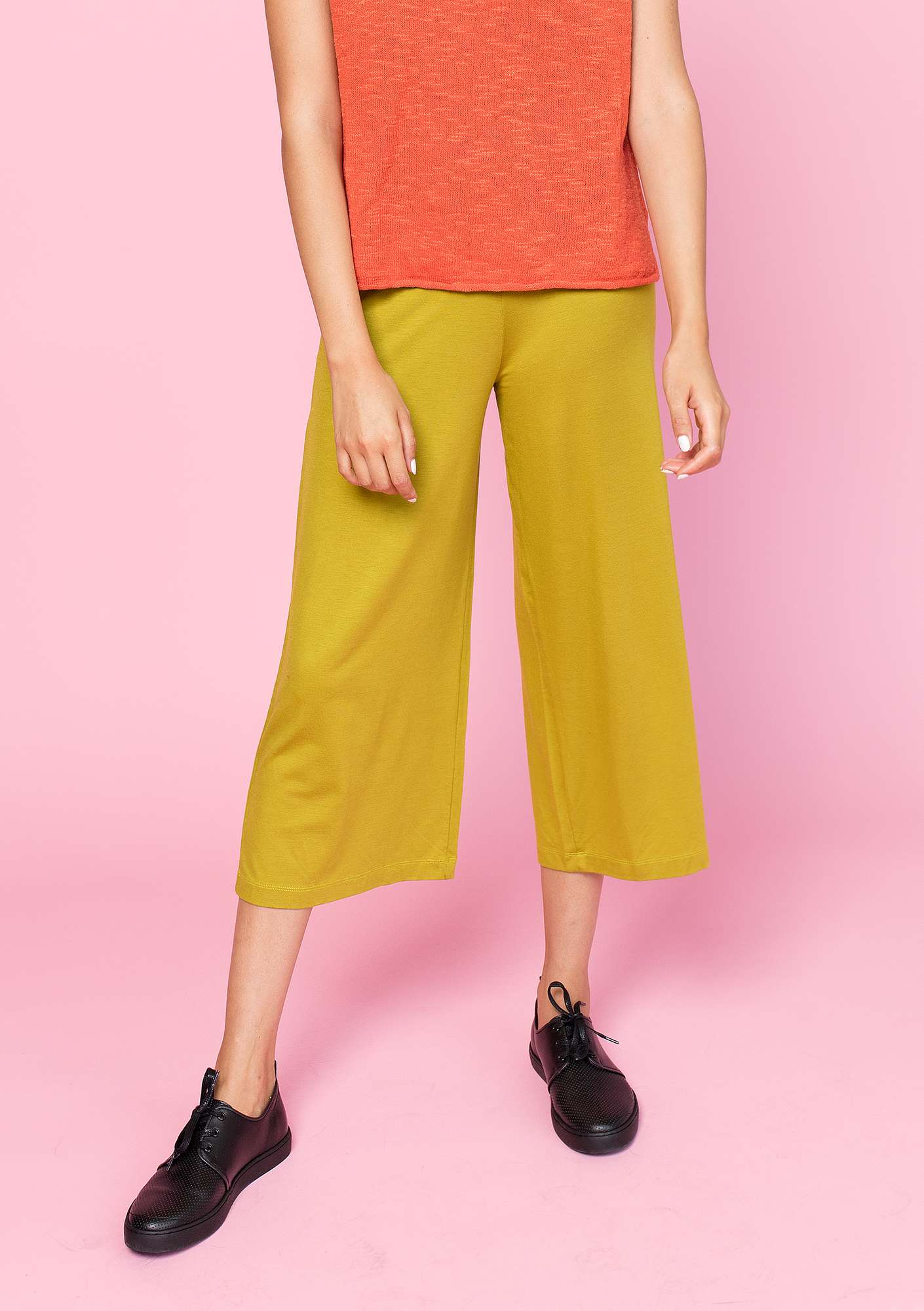 Trousers in lyocell/elastane guava