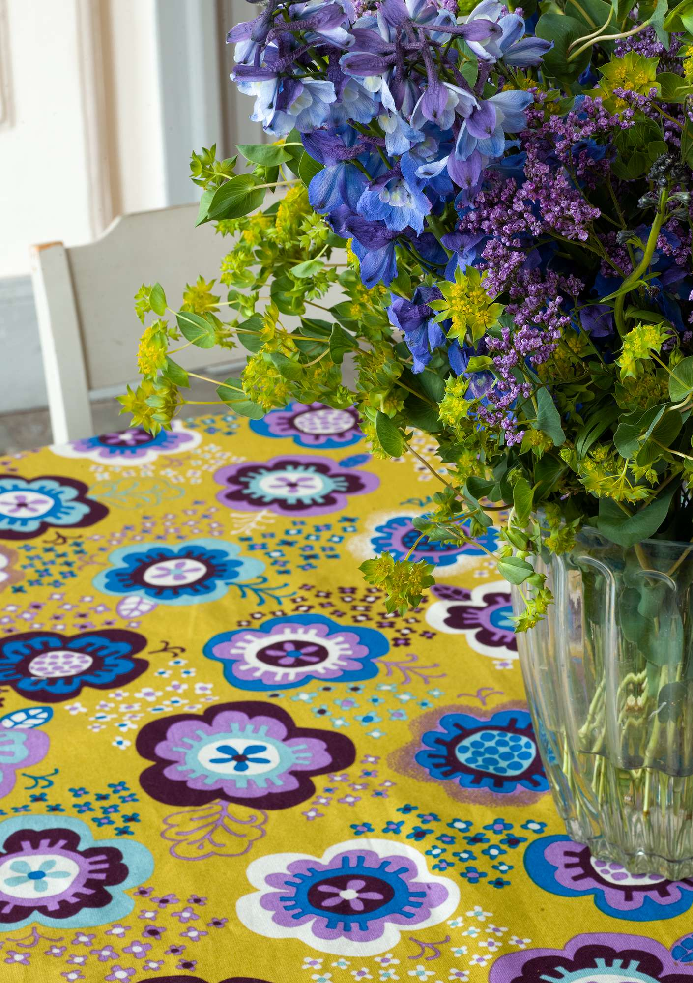 """Lizzie"" eco-cotton tablecloth guava"