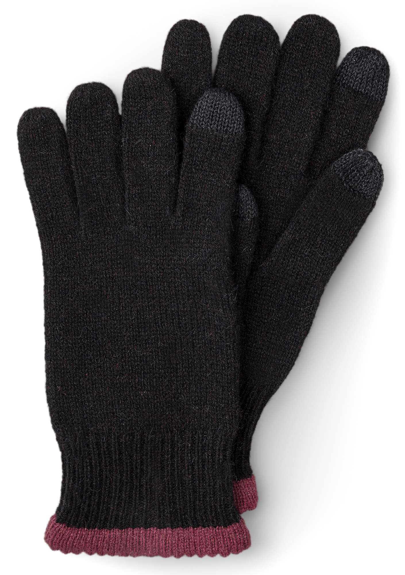 Alpaca blend gloves with touchscreen function black