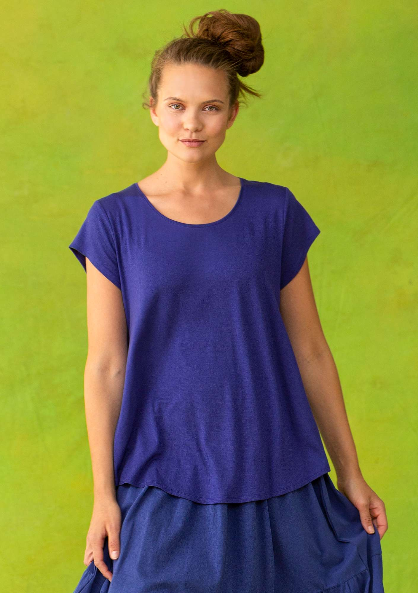 """Molly Dolly"" top in lyocell/spandex violet"