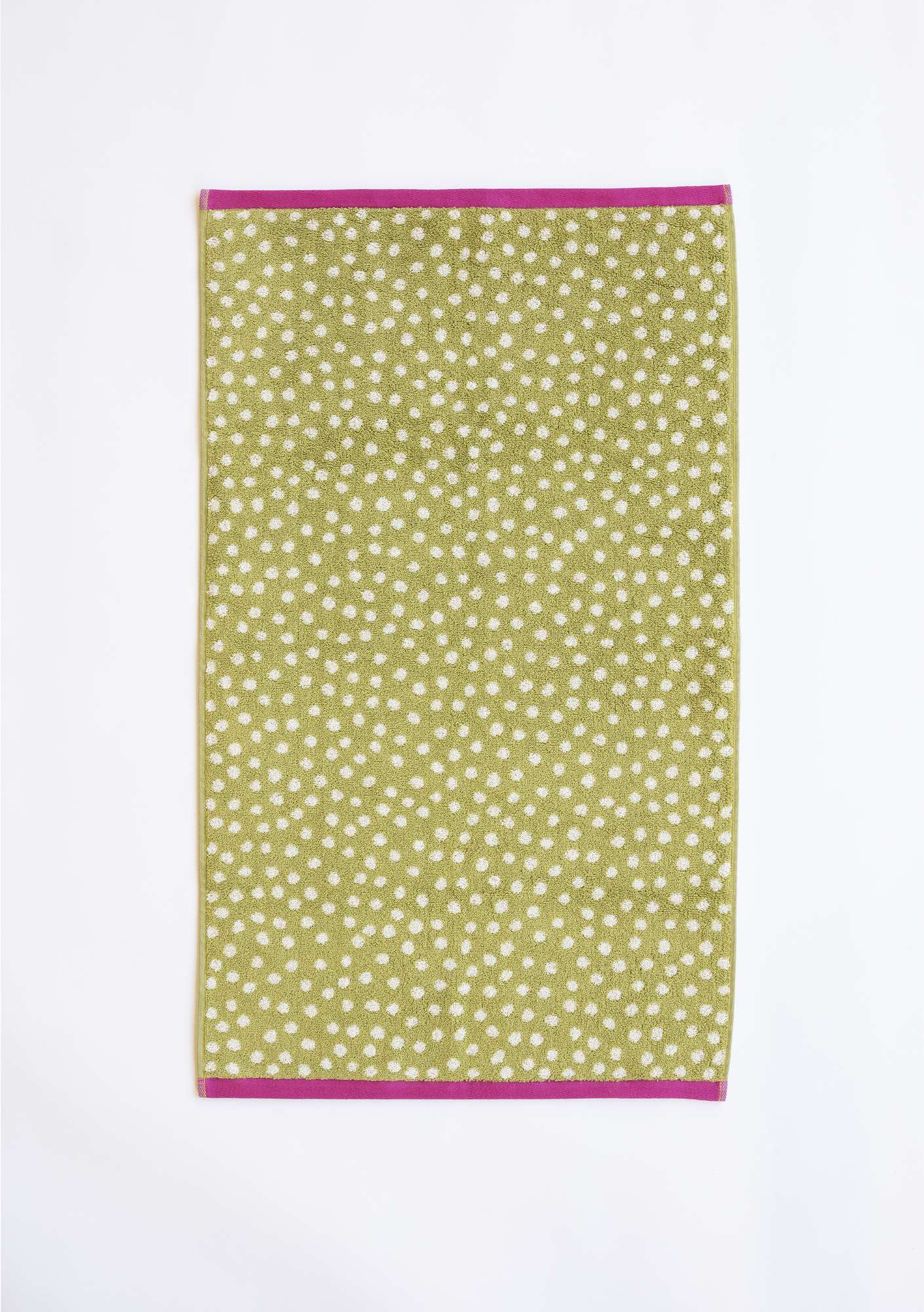 """Dots"" organic cotton hand towel kiwi"