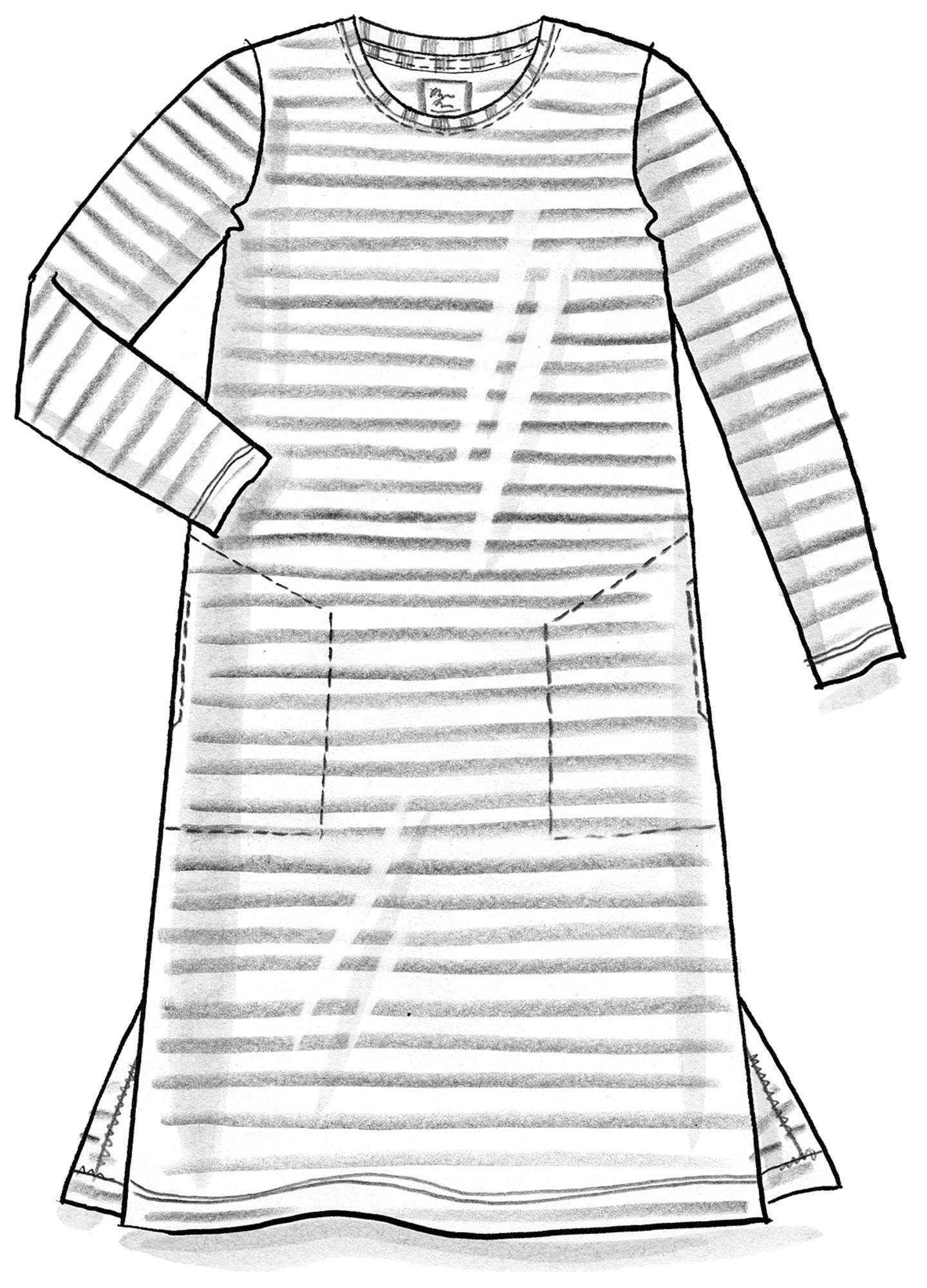 Striped dress in organic cotton