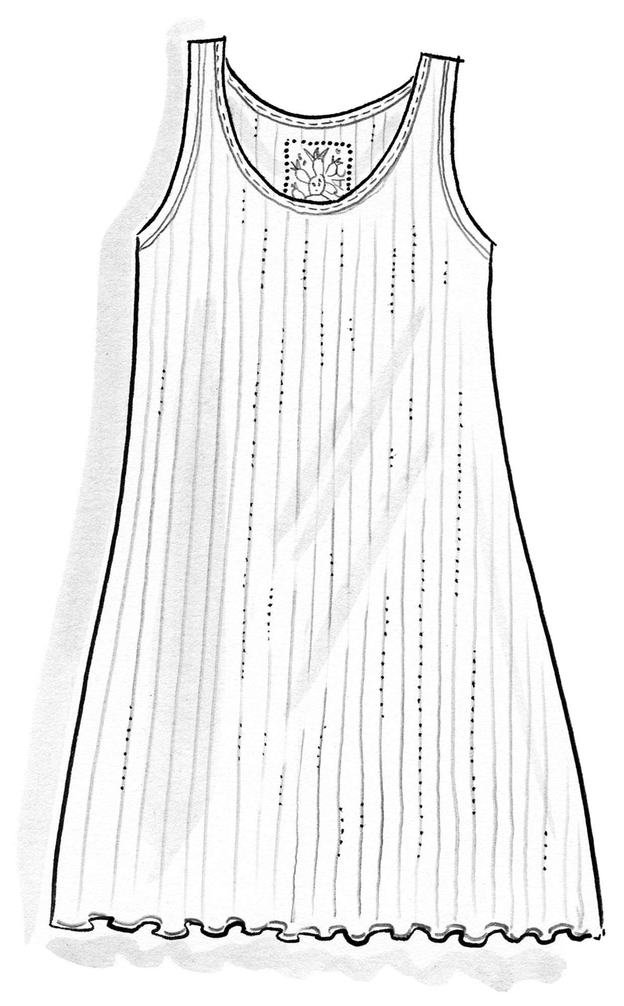 Tank top in micromodal/elastane
