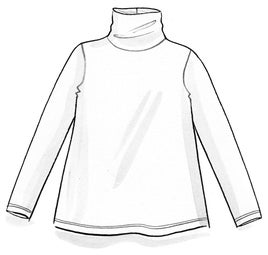 Lyocell/elastane jersey polo-neck top
