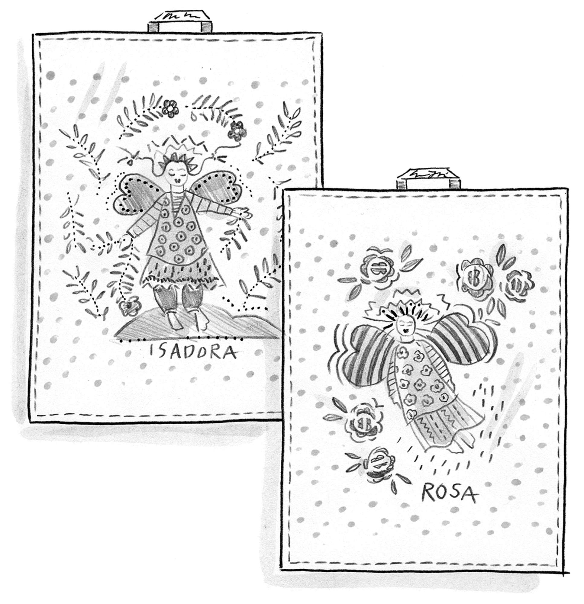 """Rosa/Isadora"" linen kitchen towel"