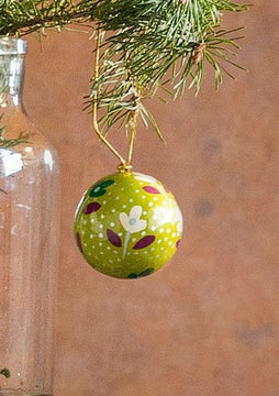 Small Christmas bauble light bottle green