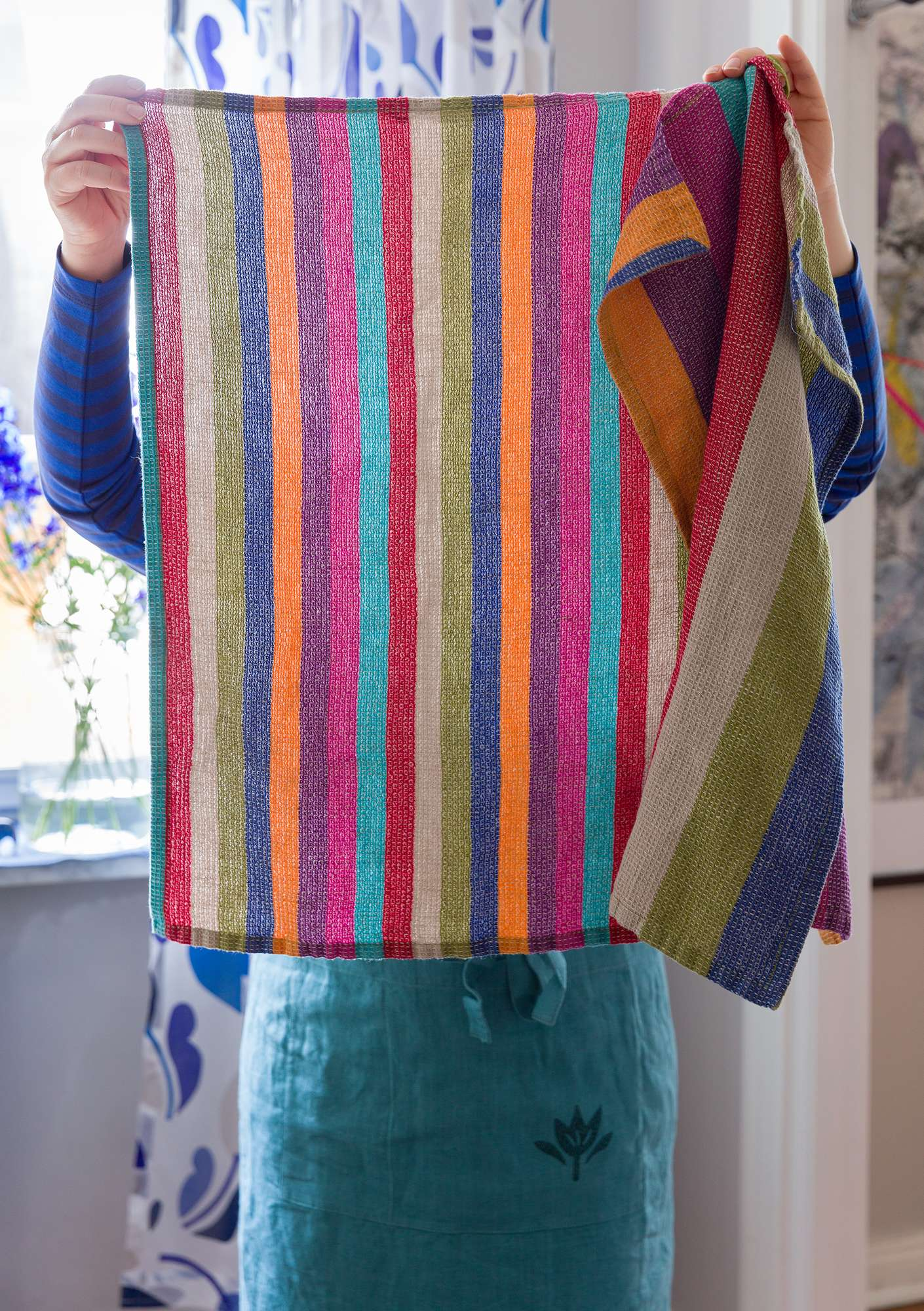 Feliz tea towel multicoloured