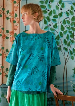 Transparens blouse turquoise