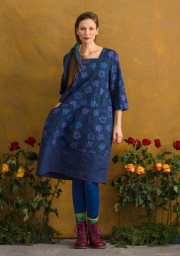 Lindblom dress midnight blue/patterned