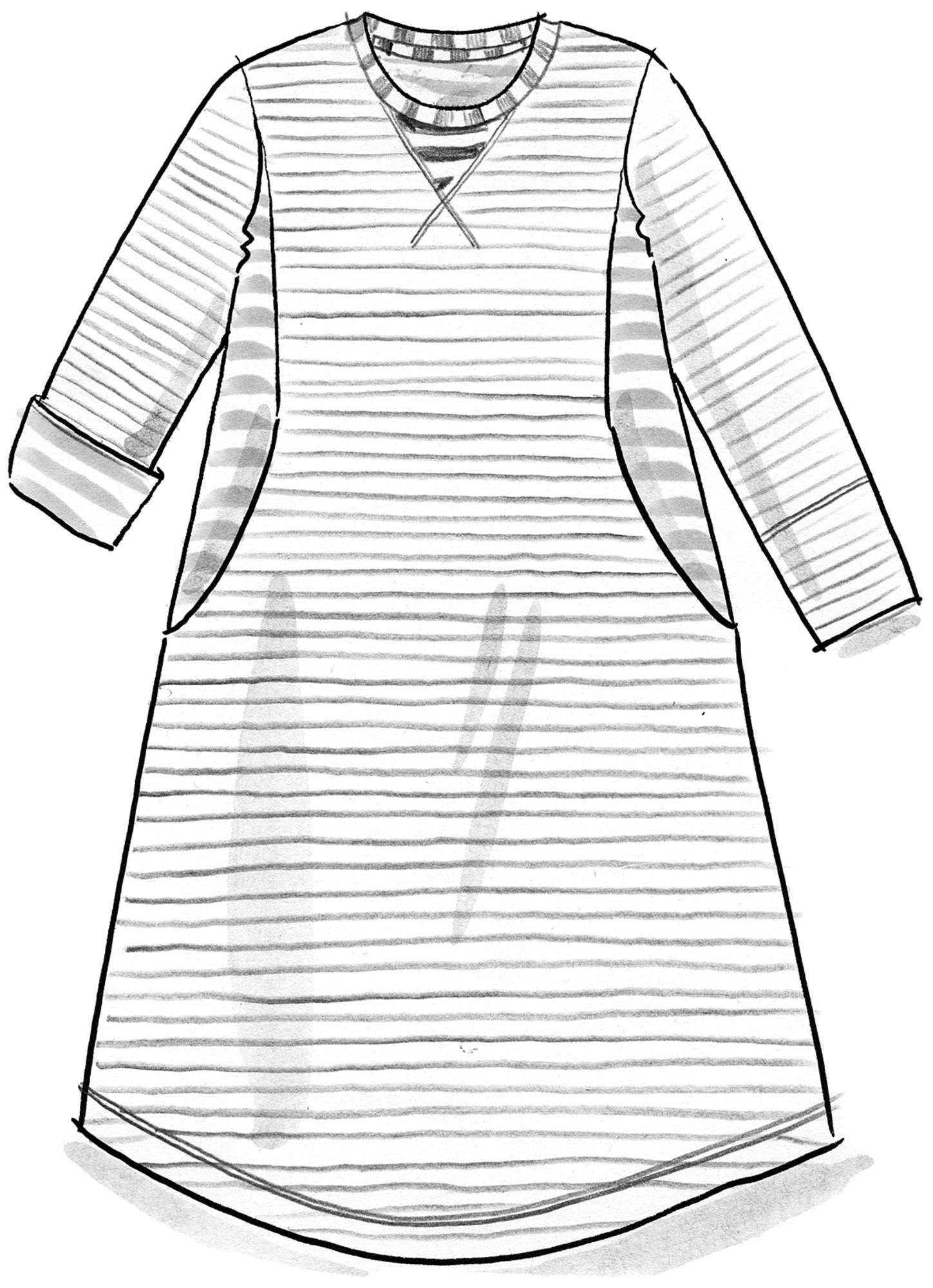 Striped dress in eco-cotton