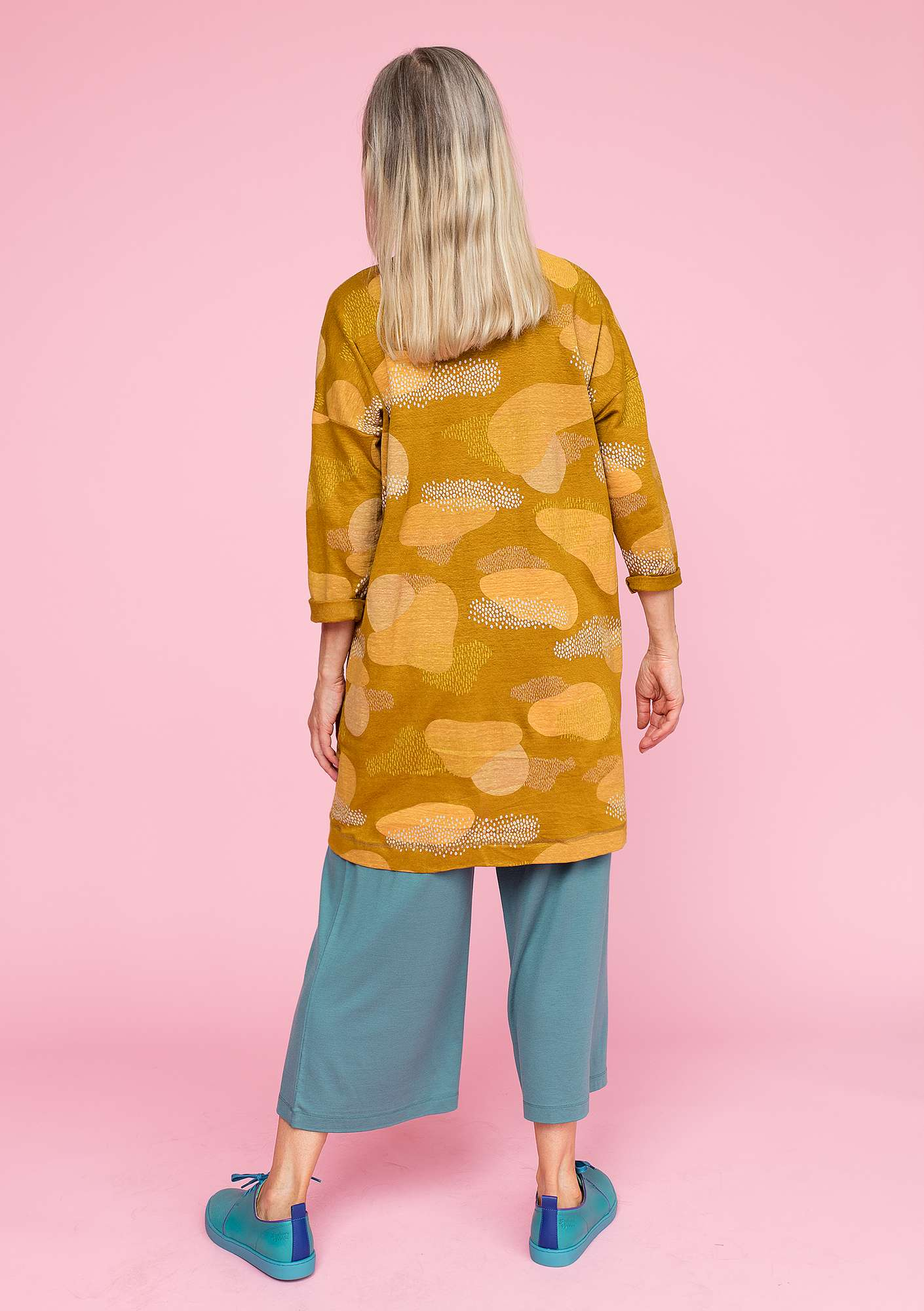 """Dis"" tunic in linen curry"