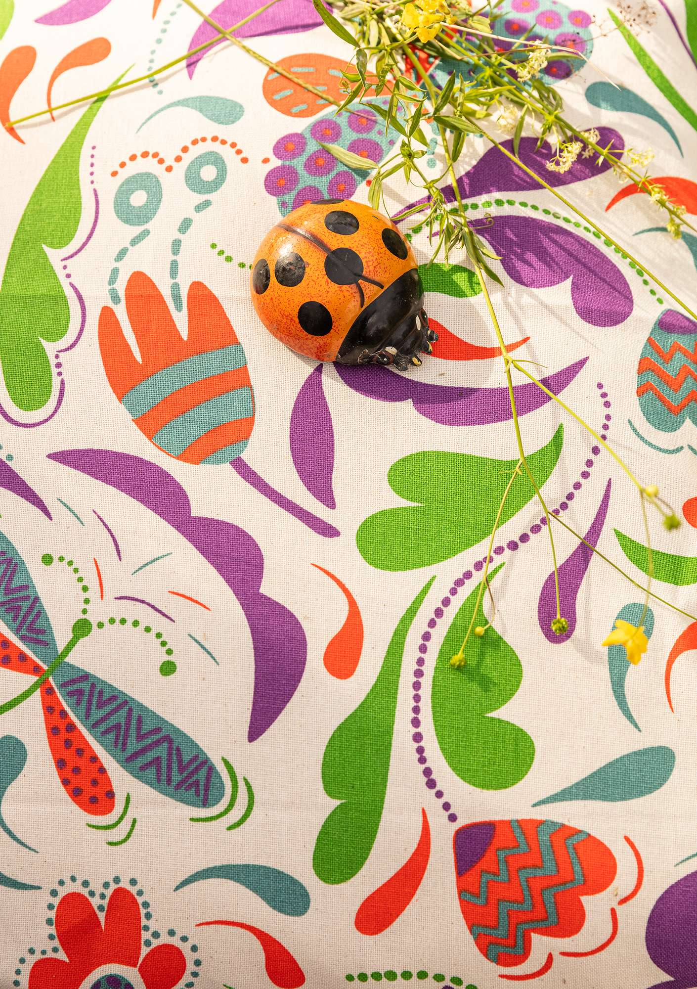 """Haga"" organic cotton fabric multicoloured"