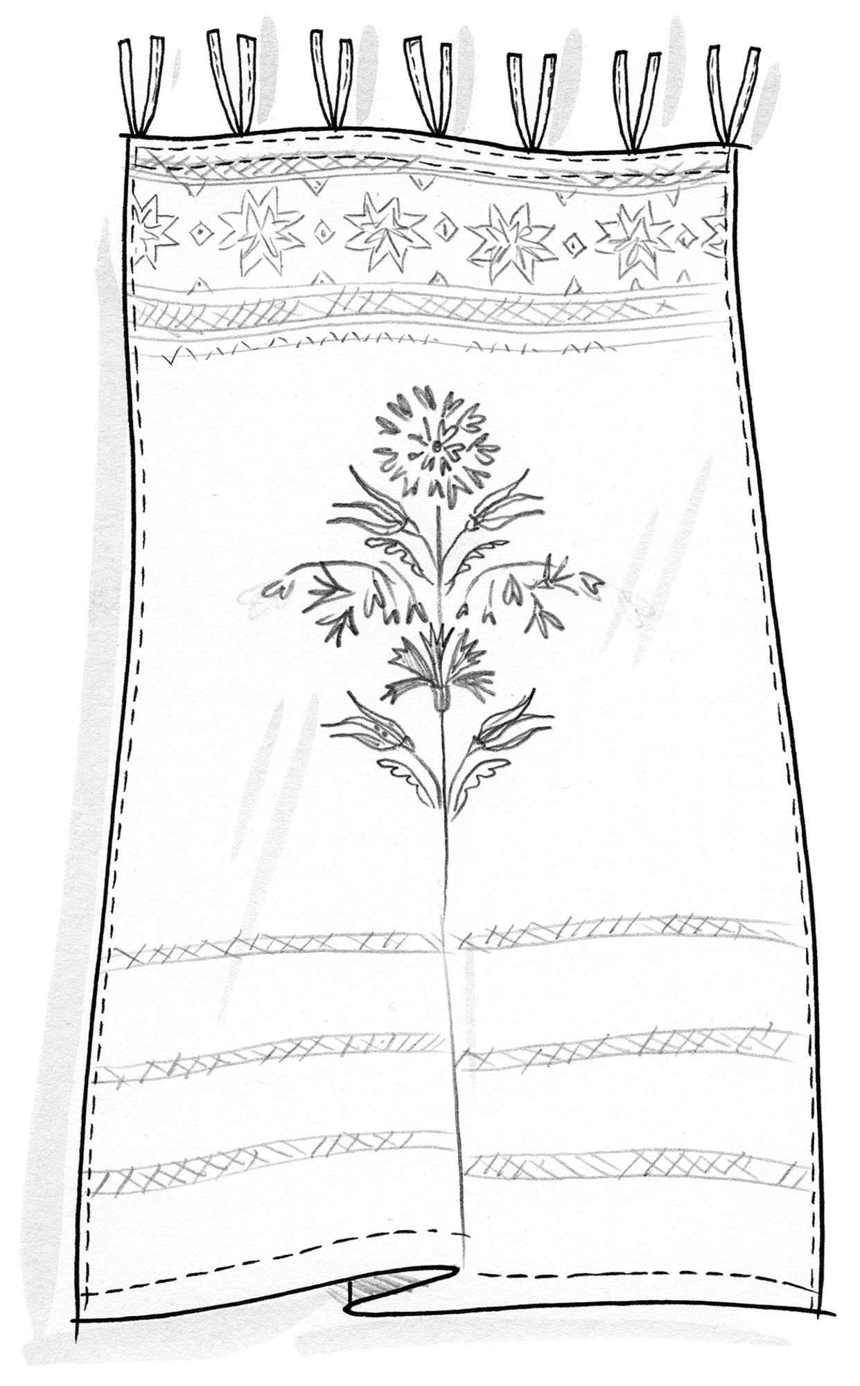 """Laguna"" curtain in cotton"