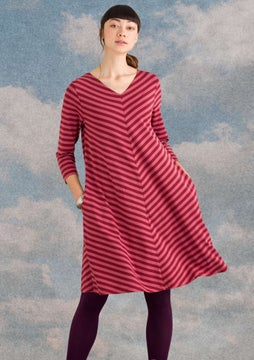 Striped dress agate red/fig