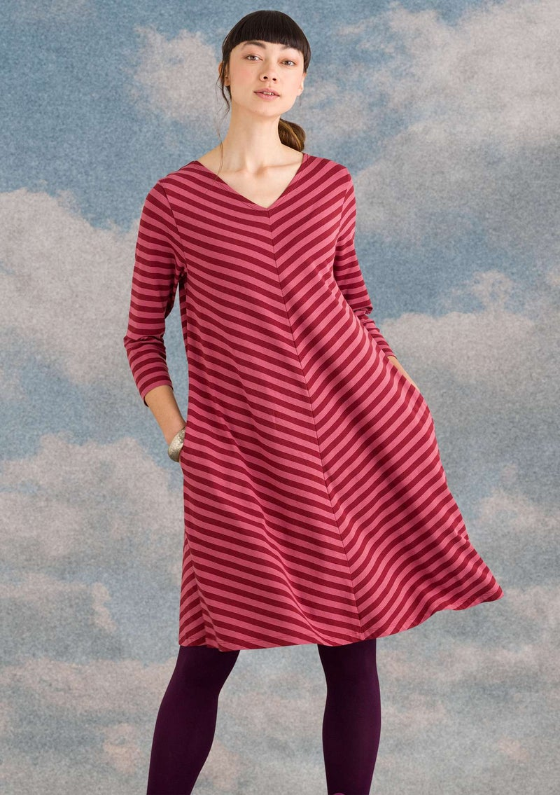 Dress in modal/cotton/elastane agate red/fig