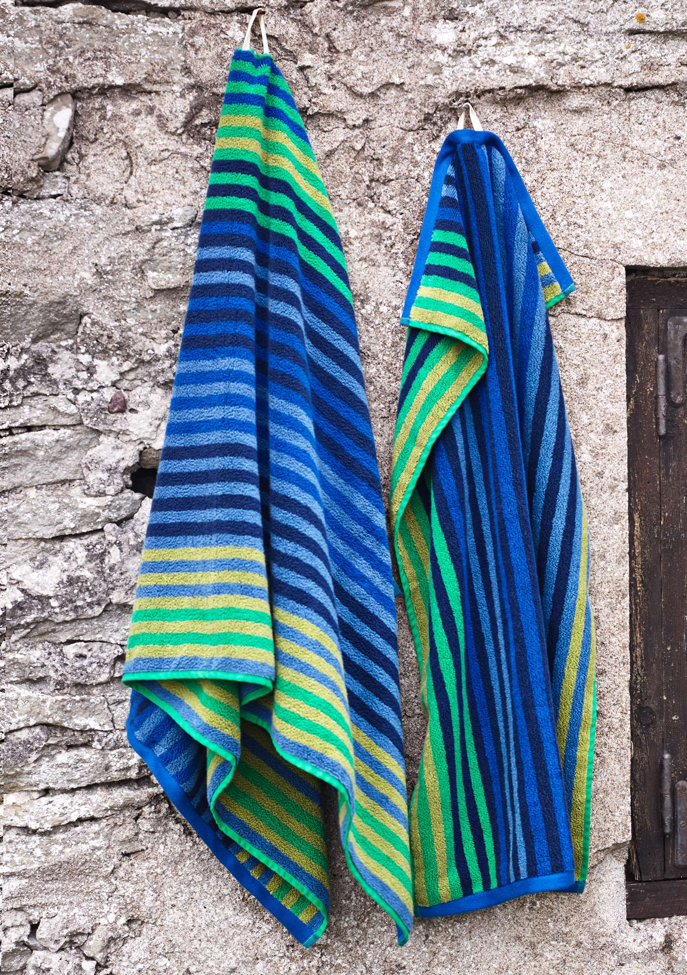 """Multi"" organic cotton bath towel cornflower"