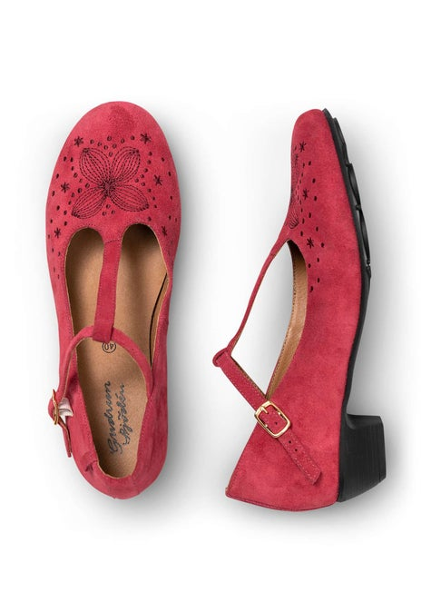 Felicité dance shoes dark hibiscus