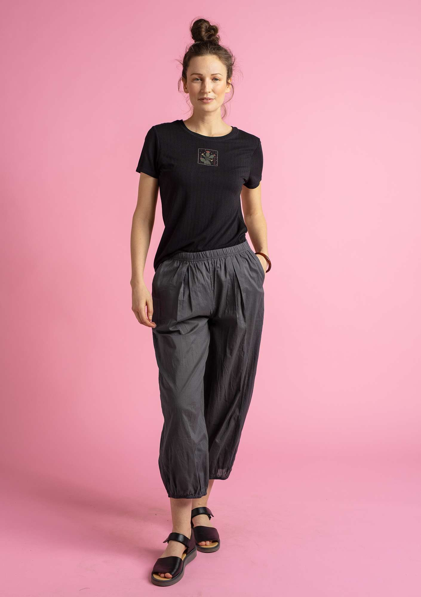 """Pepo"" organic cotton trousers ash grey"