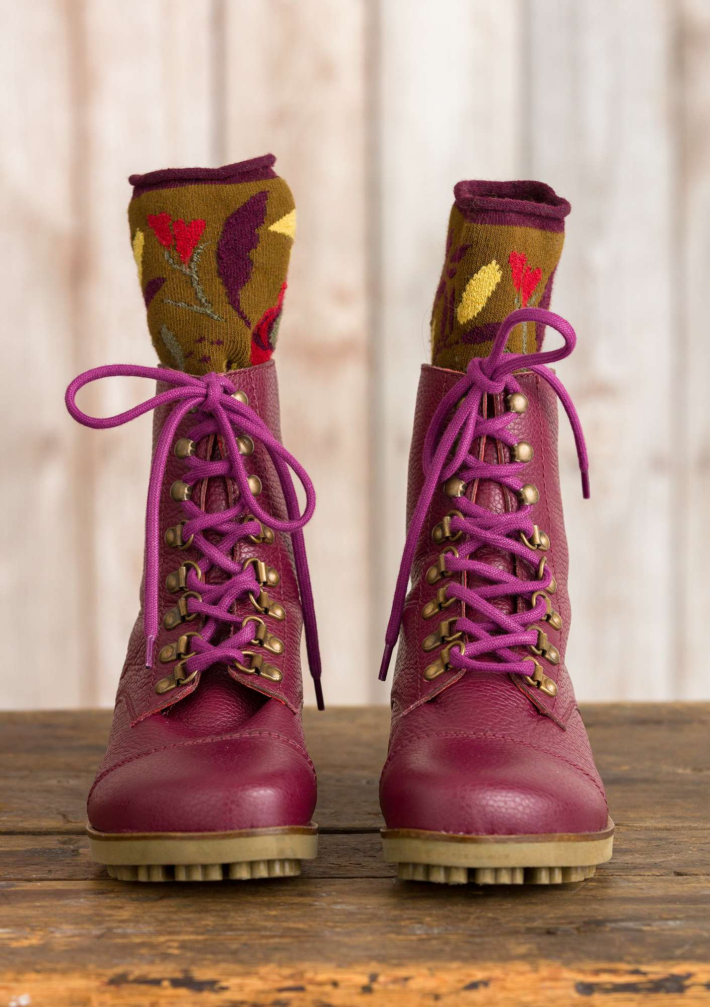 Bottines aubergine