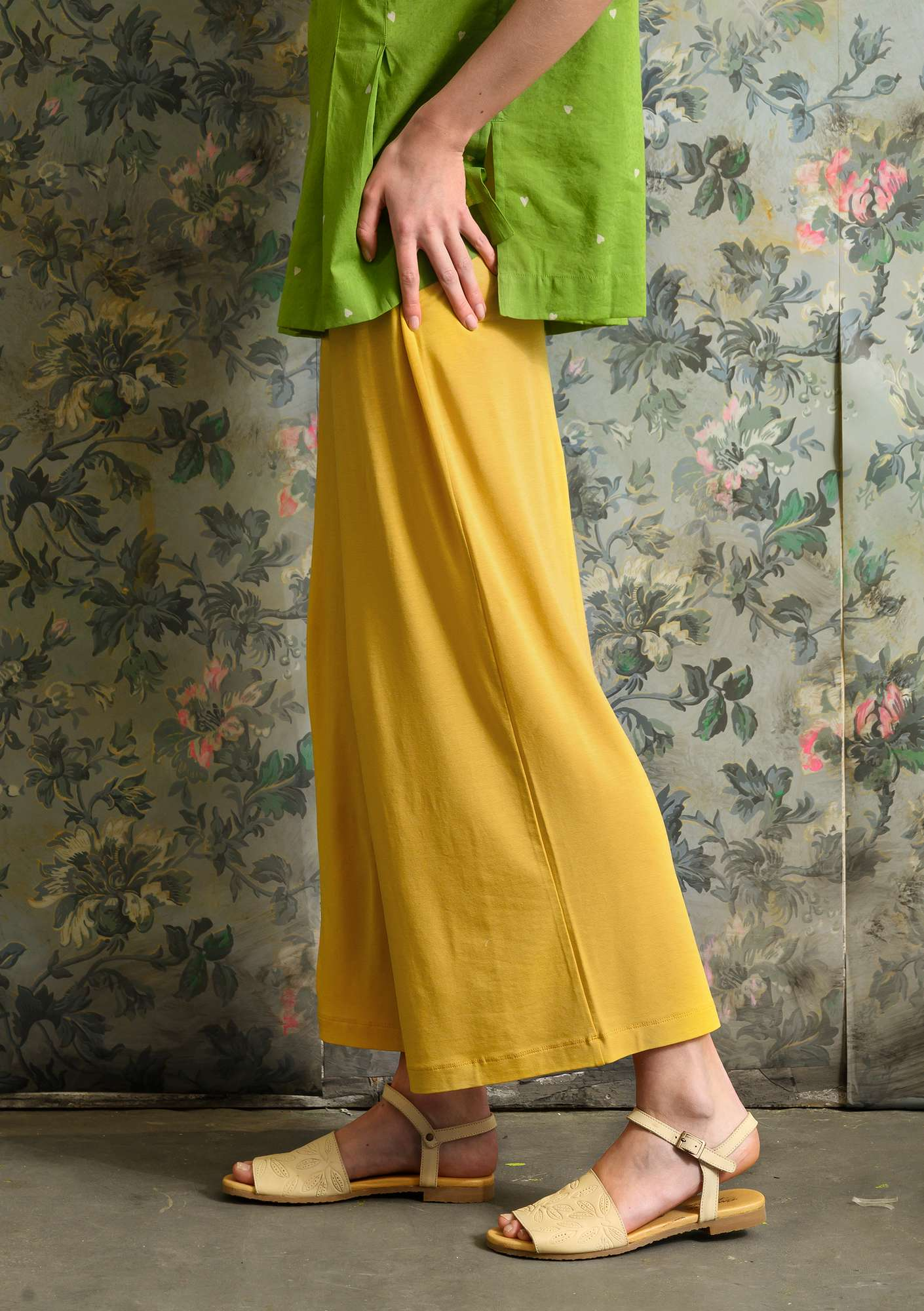 Solid-colored Pants laburnum