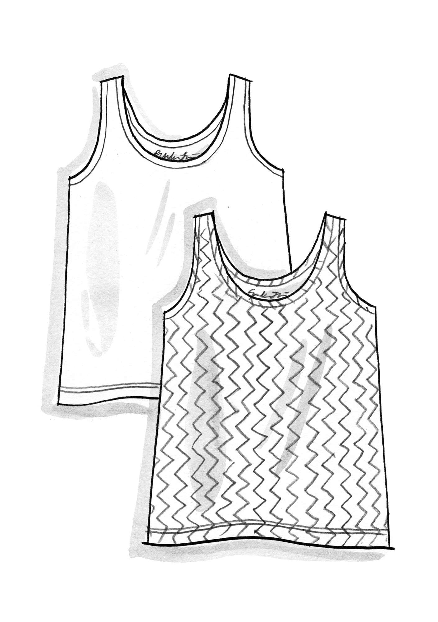 VIGG tank top in modal/eco-cotton/spandex unbleached