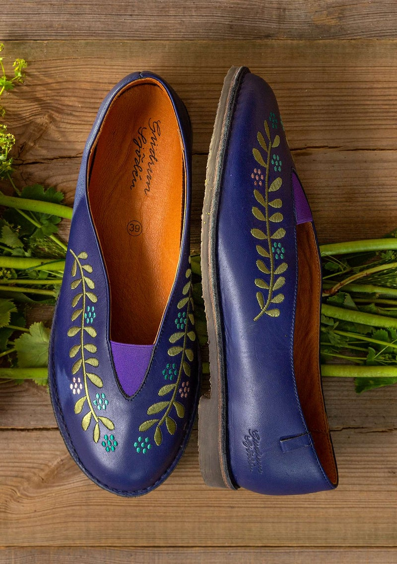 """Lily"" nappa shoes violet"