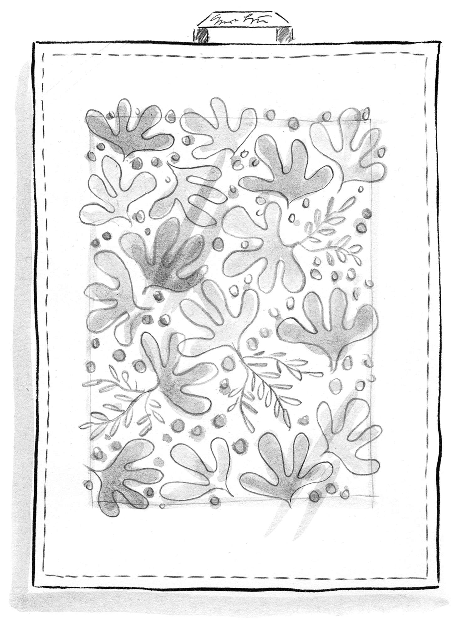 """Aralia"" linen tea towel"