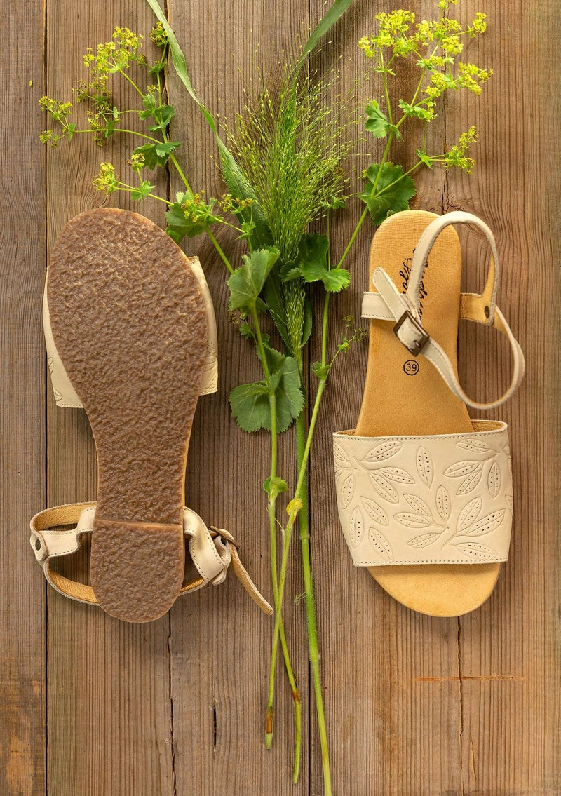 """Savanna"" nubuck sandals oatmeal"