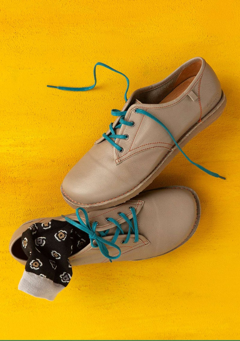 Nappa laceup shoes light potato