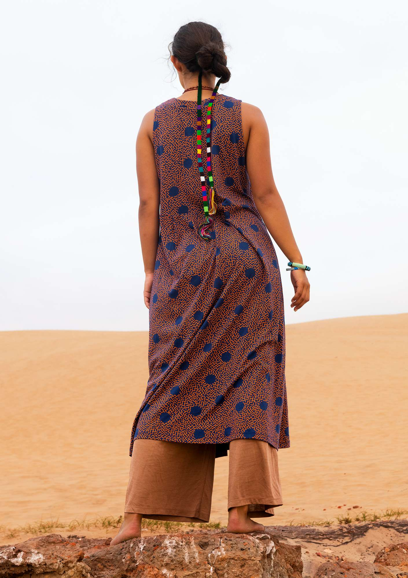 """Acacia"" organic cotton dress midnight blue"