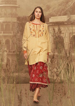 Tuniek Mirror pale marigold