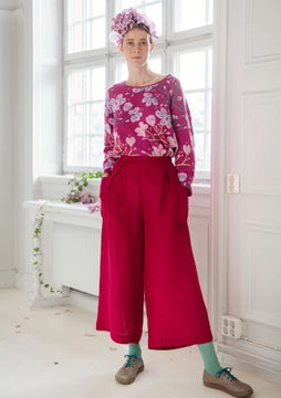 Solid-colour trousers dark hibiscus