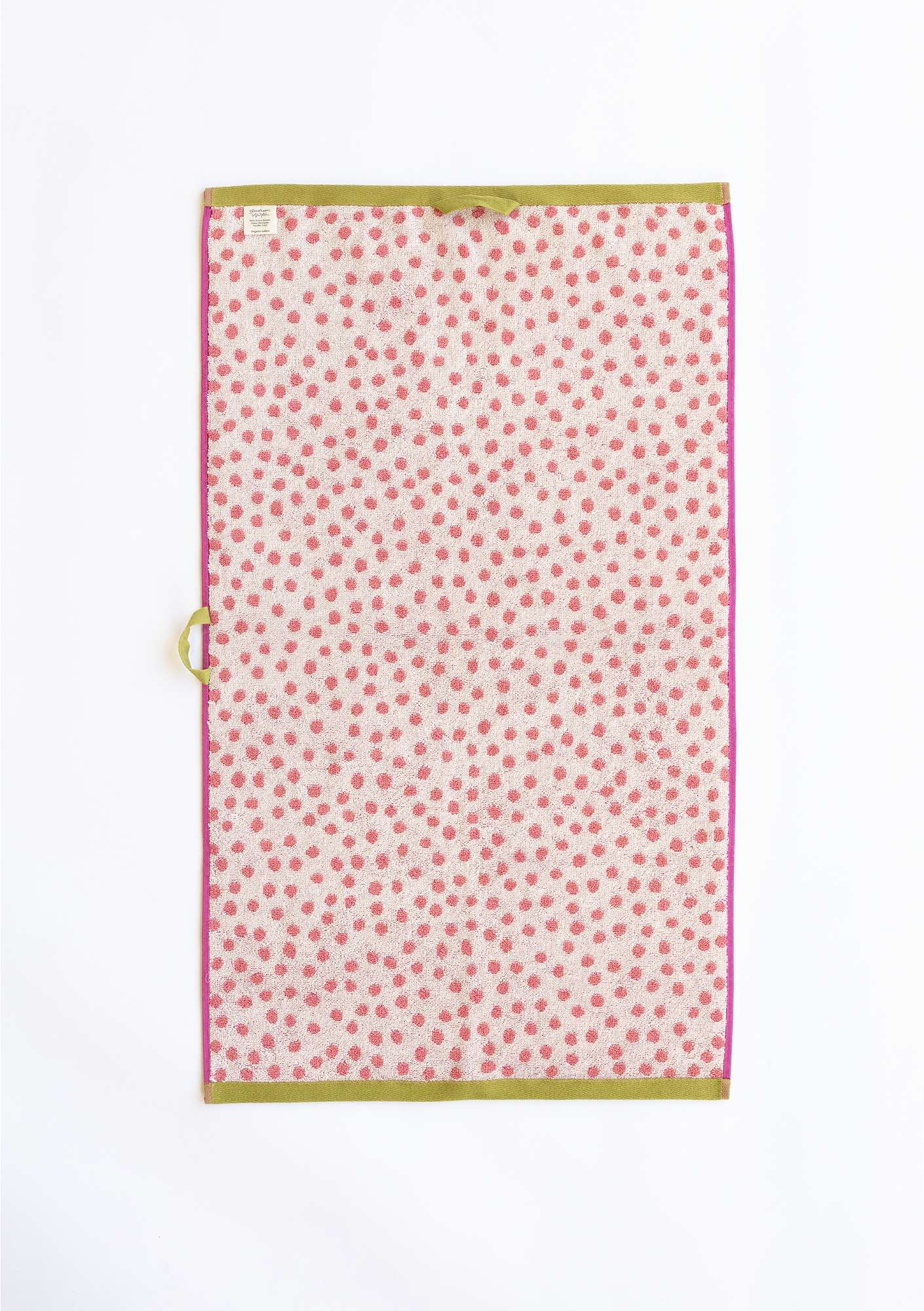 """Dots"" organic cotton hand towel water lily"