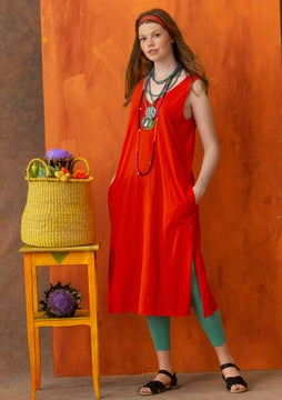 Jersey dress  lava red