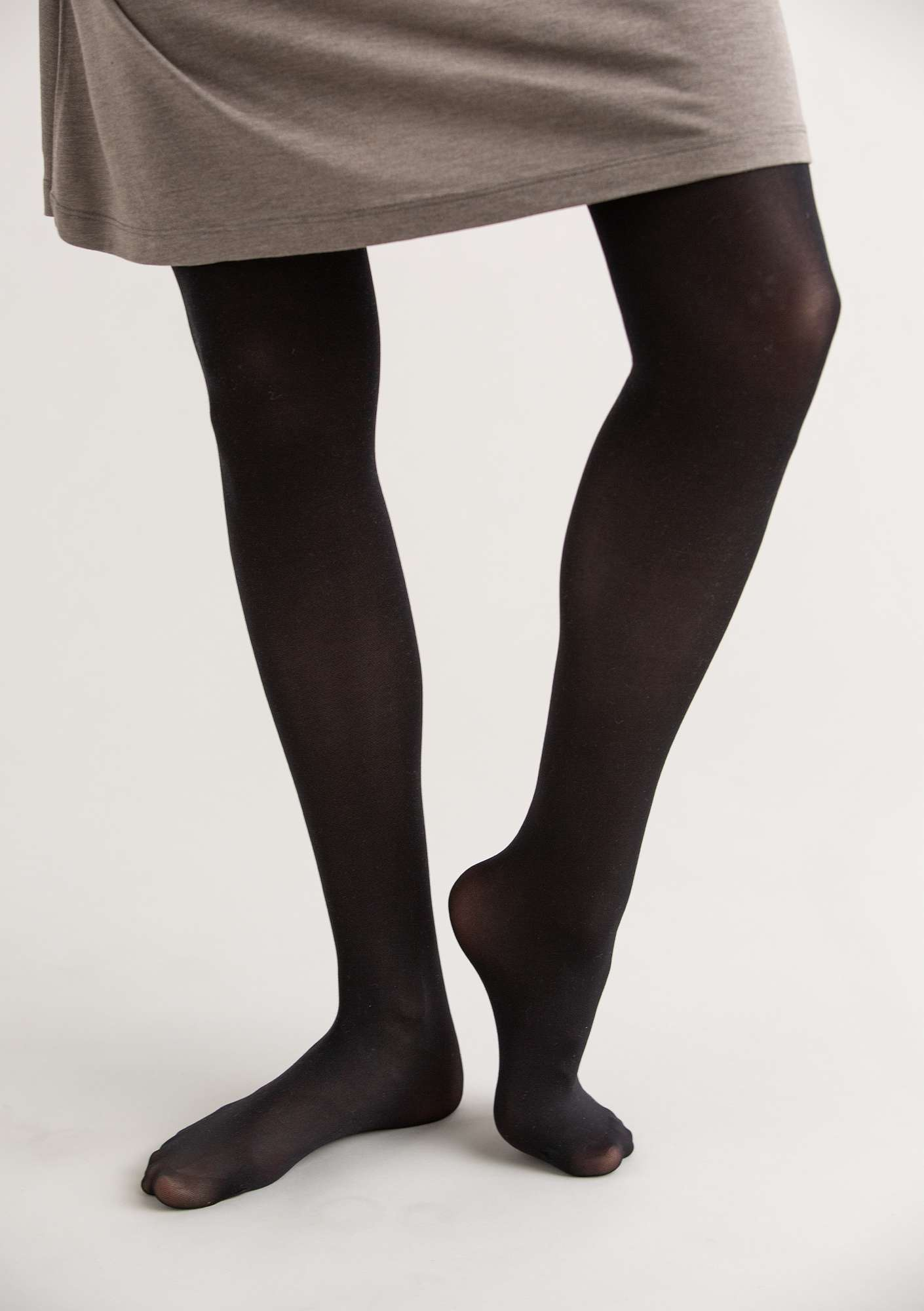 Solid-colour tights black