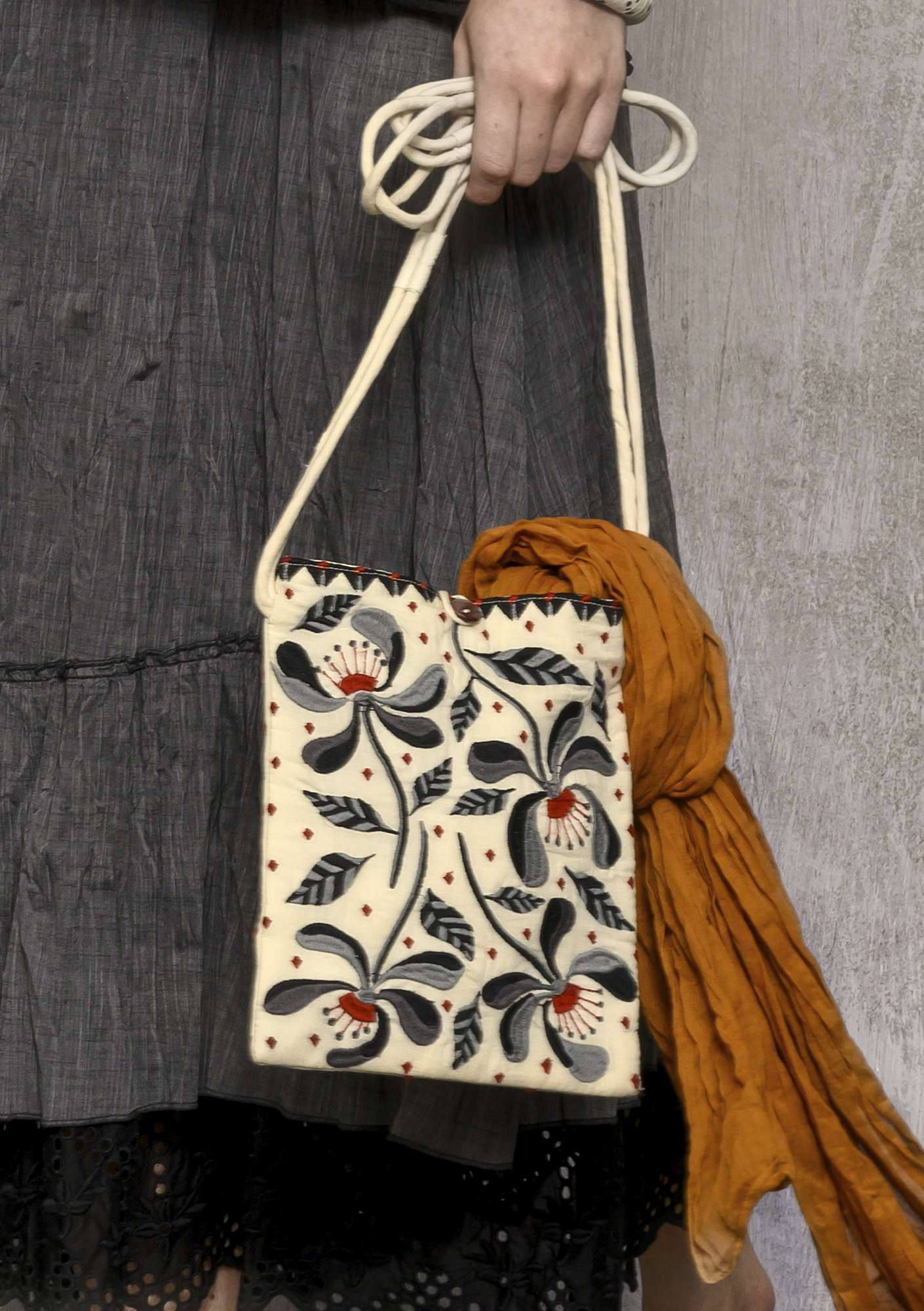 """Melodie"" organic cotton bag black"