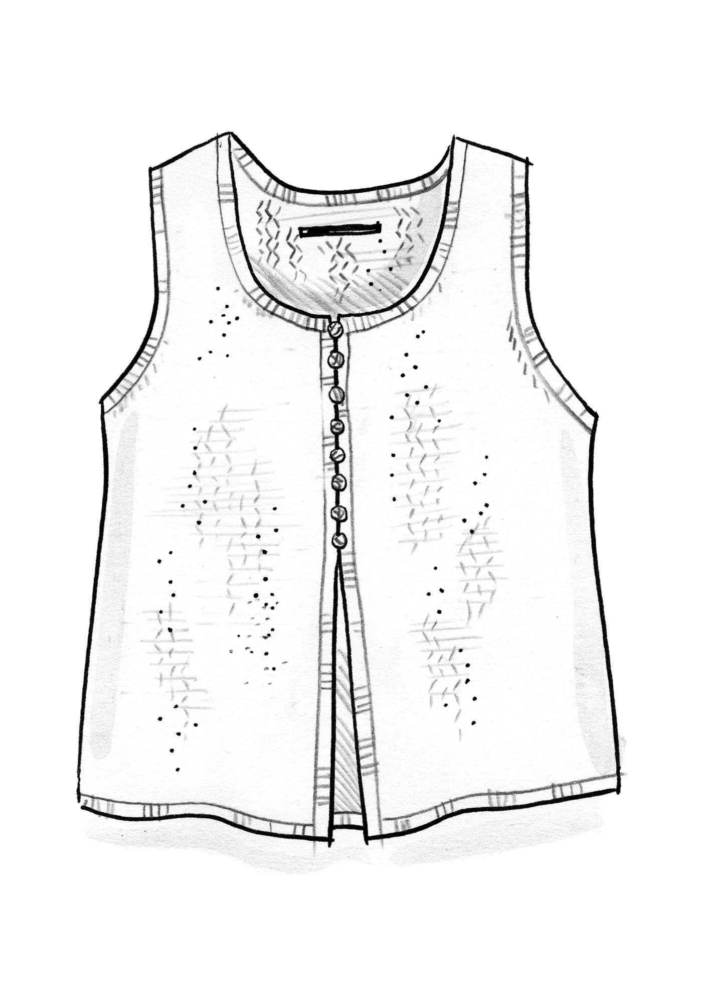 Waistcoat made of organic cotton/wool offwhite