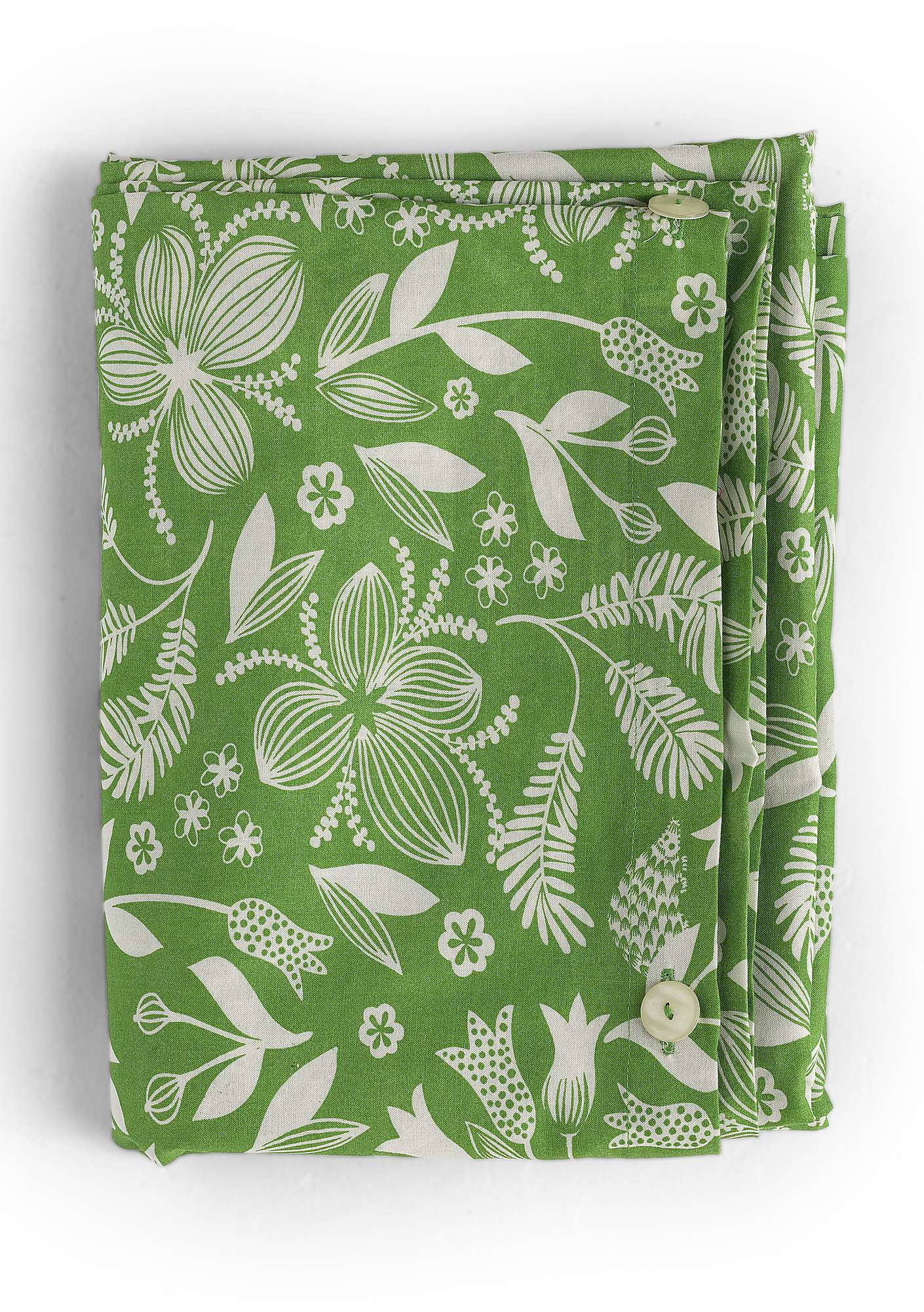 """Sara"" organic cotton duvet cover cicada"
