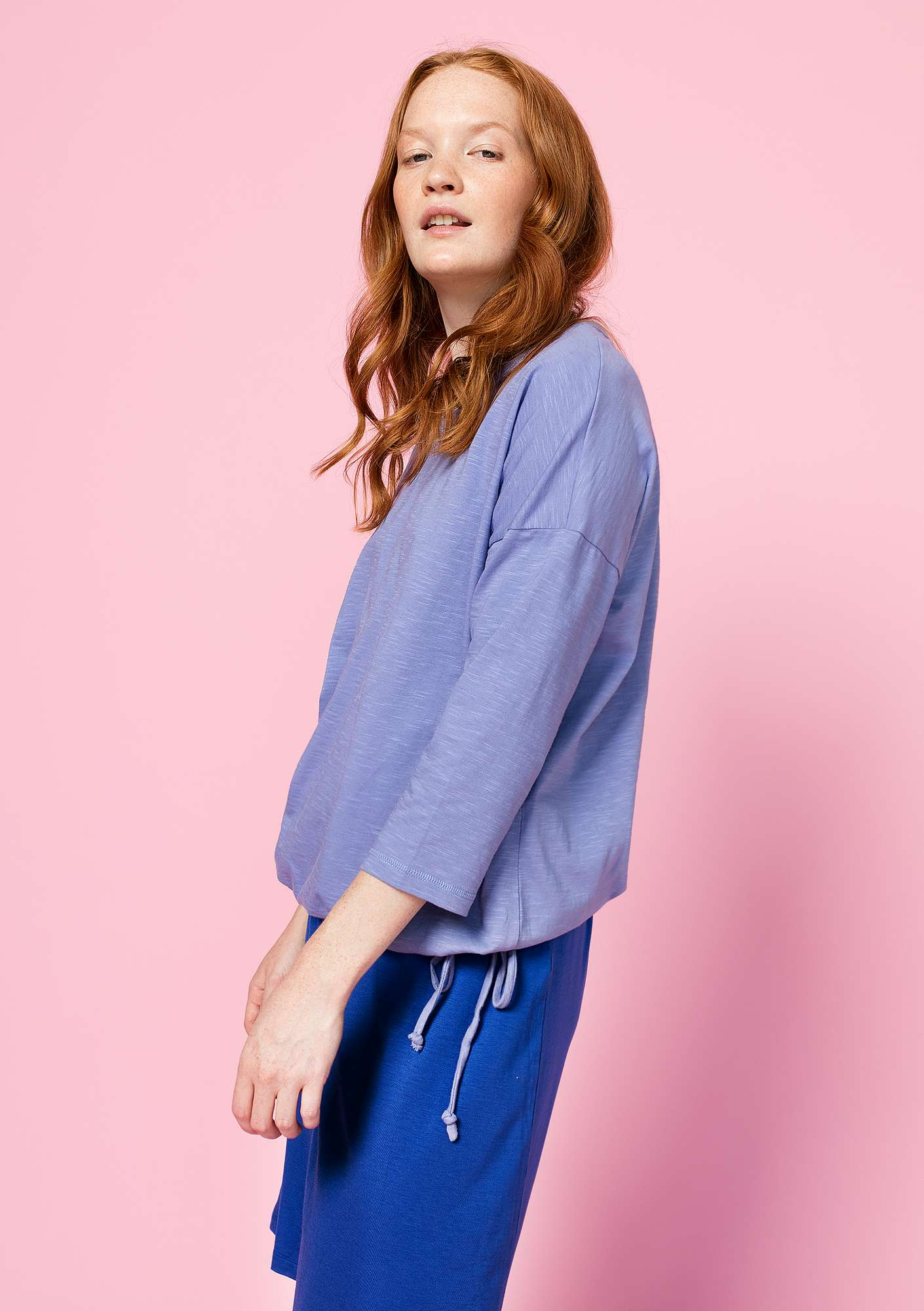 Top in organic cotton lavender