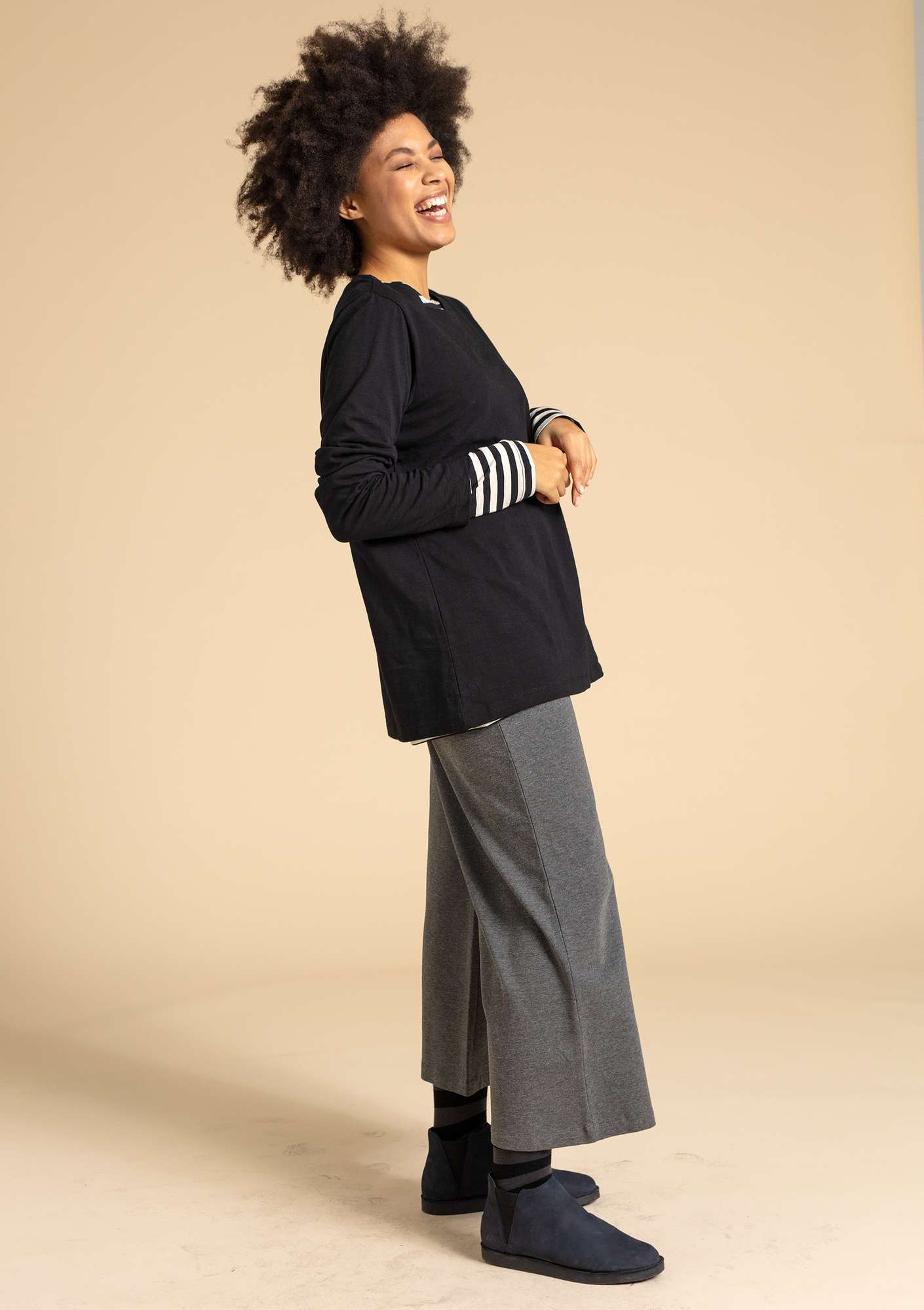 Solid-colour trousers grey melange