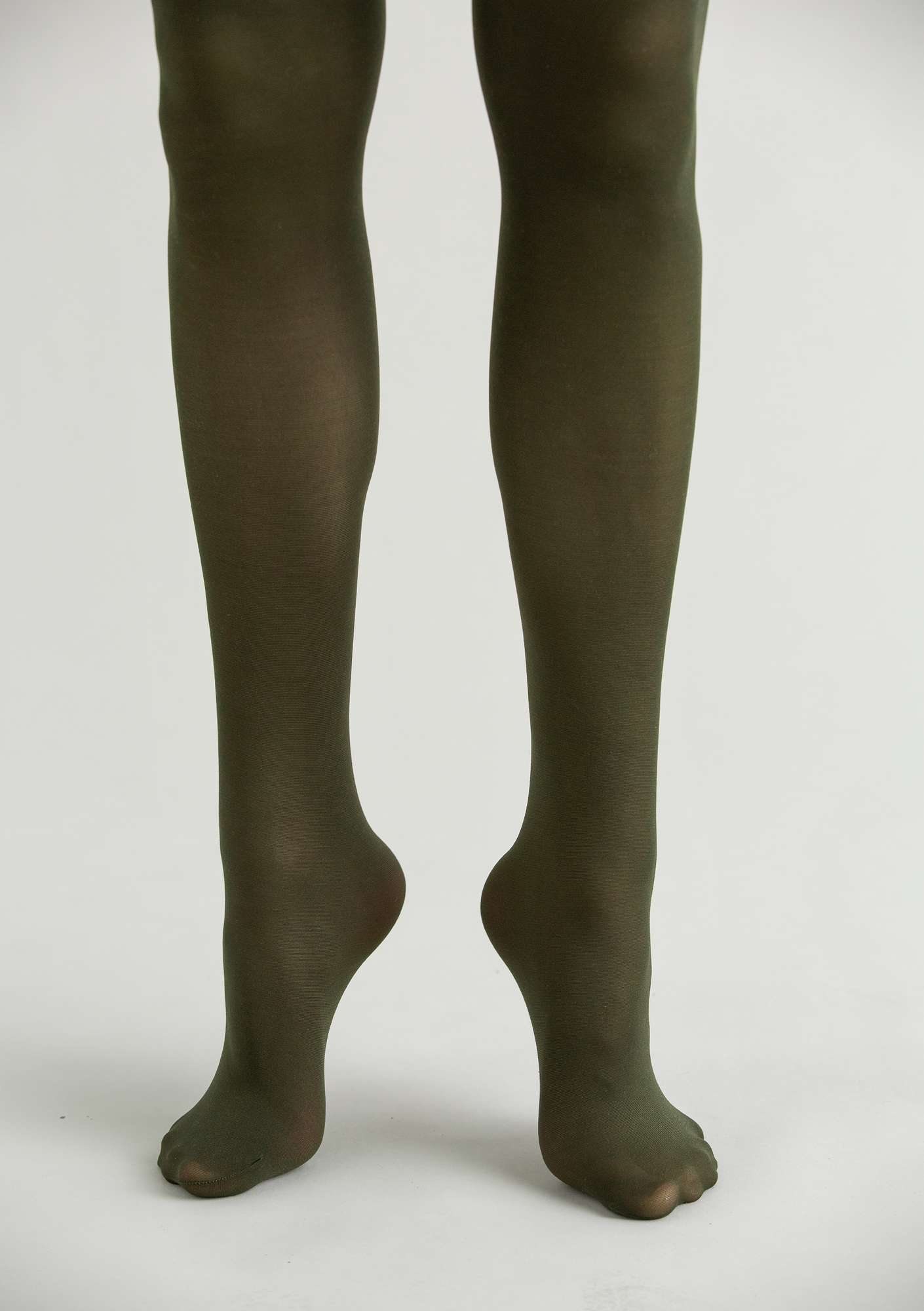 Tights in recycled nylon forest green