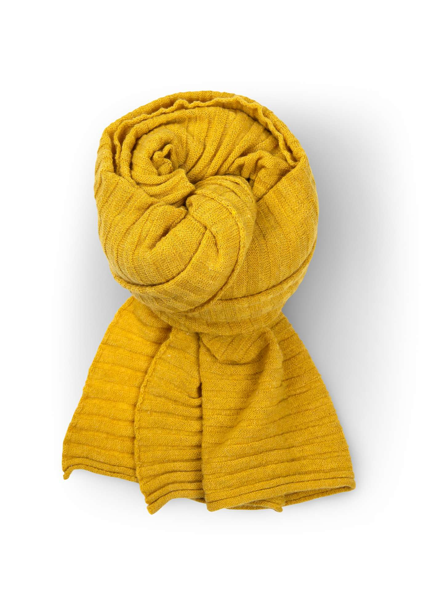 Pleated scarf in recycled cashmere blend yarn pineapple